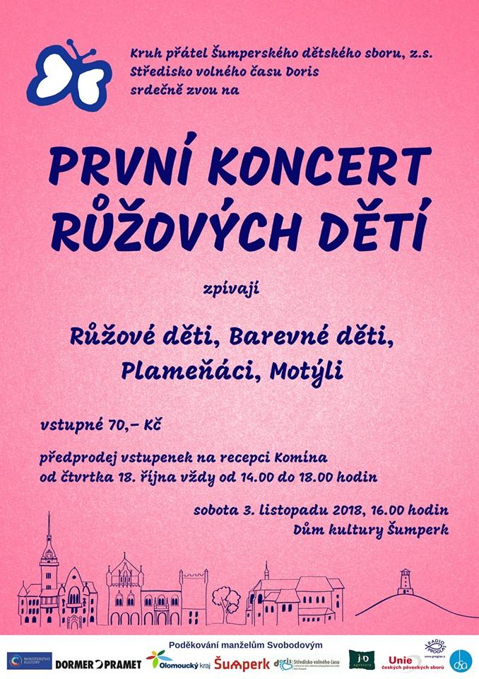 První koncert Růžových dětí