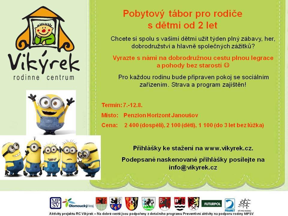 Tábor pro rodiče s dětmi od 2 do 6 let