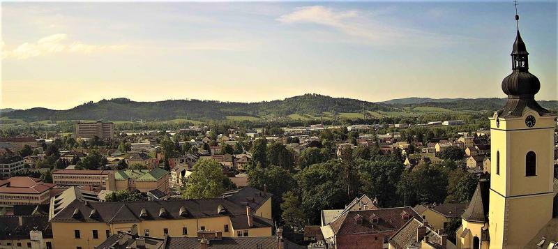 Výhled z radniční věže směr jih
