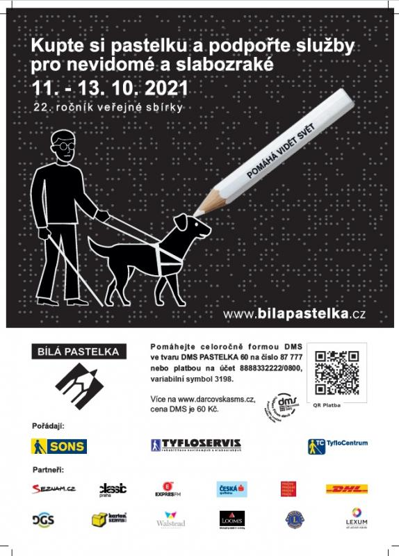 Sbírka Bílá pastelka plakát s QR kodem