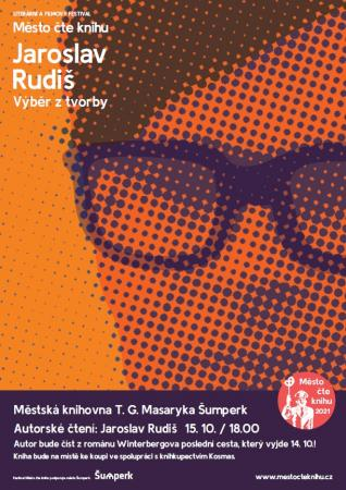 Město čte knihu pozvánka na autorské čtení Jaroslava Rudiše