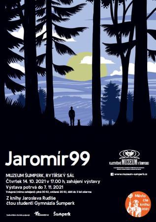 Město čte knihu plakát na akci Jaromíra 99